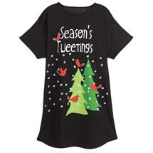 Season's Tweetings Nightshirt