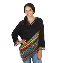 Southwestern Sweater Poncho
