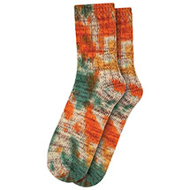 Set of 2 Orange Tie-Dye Cotton Blend Crew Socks