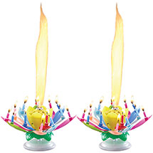 Set of 2 Musical Spinning Birthday Candles