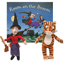 Room on a Broom Book Plush Witch and Plush Cat Gift Set