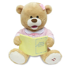 Animated Singing Miss Melody Bear