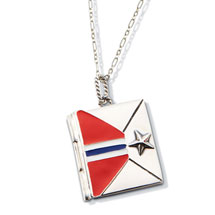 U.S. Military Star Honor Guard Envelope Necklace