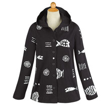 Rock Fish Hooded Shirt Jacket