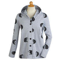 Hedgehog Hooded Shirt Jacket