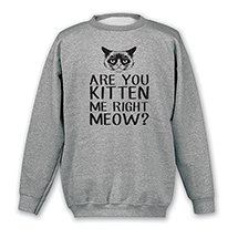 Are You Kitten Me Right Meow Sweatshirt