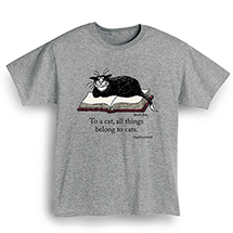 "Edward Gorey - ""To A Cat"" T-Shirt"