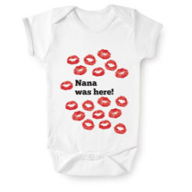 Personalized Grandma Was Here Snapsuit and Toddler Shirt