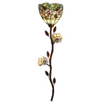 Art Glass Magnolias Battery-Operated Wallchiere