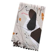 Charley Harper Springer Spaniel Dish Towel