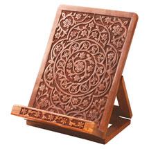 Hand-Carved Rosewood Tablet Holder