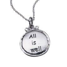 Sterling Silver All Is Well Necklace