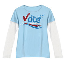 Vote Double Layer Tee