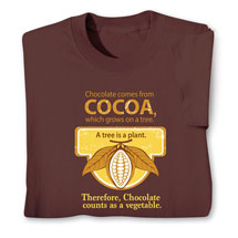 Chocolate Counts As a Vegetable T-Shirt