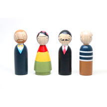 Modern Art Masters Wooden Dolls Set of 4