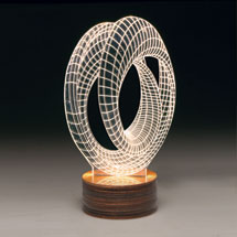3D Illusion USB Light Sculpture - Infinity Loop