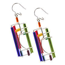Barbie Levy Wire & Glass Earrings