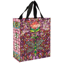 Dragonfly Stained Glass Handy Tote