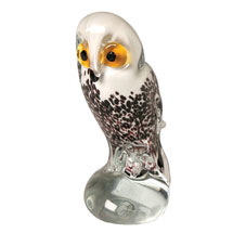 Snowy Owl Glass Sculpture