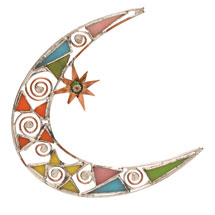Stained Glass Moon Suncatcher