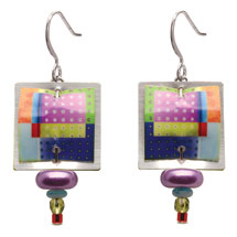 Singerman & Post Rainbow Boxes Earrings