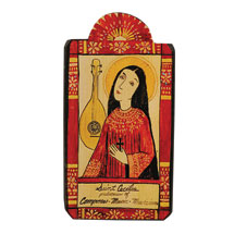 Saint Cecilia Wall Plaque