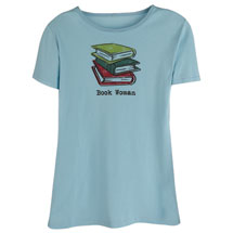 Book Woman Short Sleeve T-Shirt