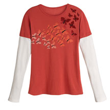 Blooming Butterflies Long Sleeve T-Shirt