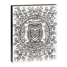 Color-Your-Own Wall Art - Owl Design