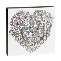 Color-Your-Own Wall Art - Heart Design