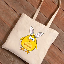 Personalized Easter Tote - Chick with Bunny Ears