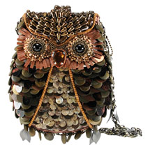 Mary Frances What a Hoot Beaded Handbag