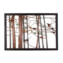 Woodland Birds Metal Wall Art