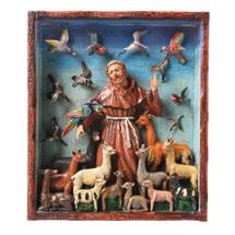 Handcrafted St. Francis Retablo Frame