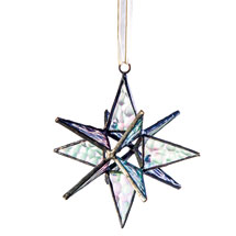 Moravian Star Art Glass Ornament