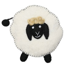 Felted Wool Animal Coin Pouches - Sheep