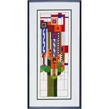 Frank Lloyd Wright Saguaro Forms & Cactus Flowers Cross Stitch Kit