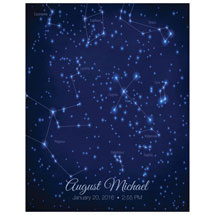 Personalized Night Sky On Your Day Print - Modern Style