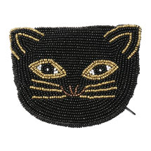 Beaded Coin Purse - Cat