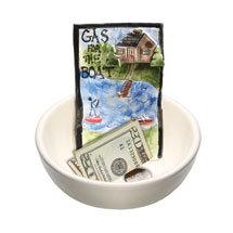 Gas for the Boat Ceramic Bowl