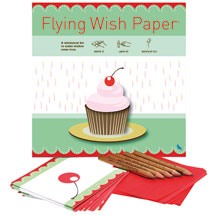 Birthday Cupcake Flying Wish Paper Kit