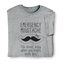Emergency Moustache Shirts