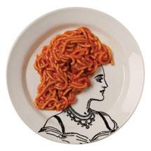 Portrait of a Lady Pasta Plates