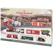 A Norman Rockwell Christmas Electric Train Set