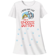 Cat Snooze Button Nightshirts
