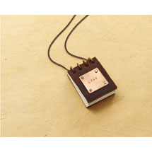 Little Leather Journal Necklace