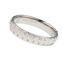 Braille Alphabet Bangle