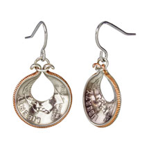 Oyster Shell Dime Earrings