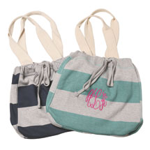 Monogrammed Jersey Tote