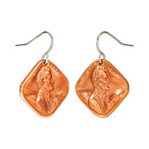 Squeezed Diamond Penny Earrings